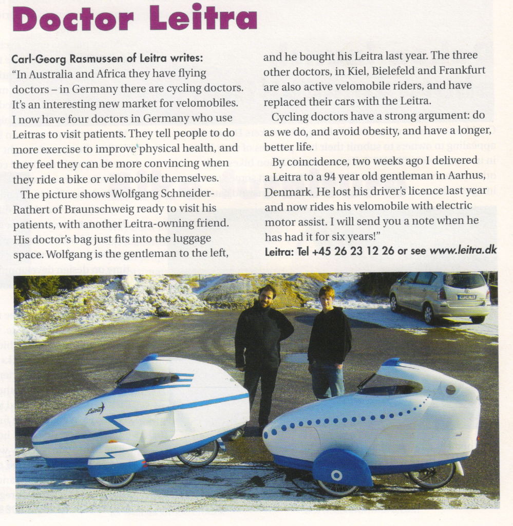 """Article """"Doctor Leitra"""" from Velovision Magazine Issue 21 March 2006"""