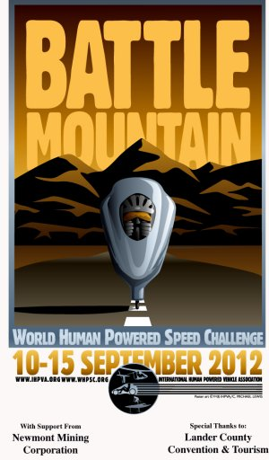 World Human Powered Speed Championships 2012 Poster